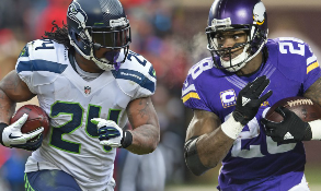 Adrian Peterson and Marshawn Lynch