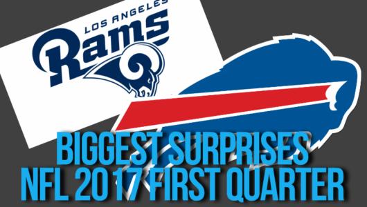 NFL 2017 First Quarter Surprises
