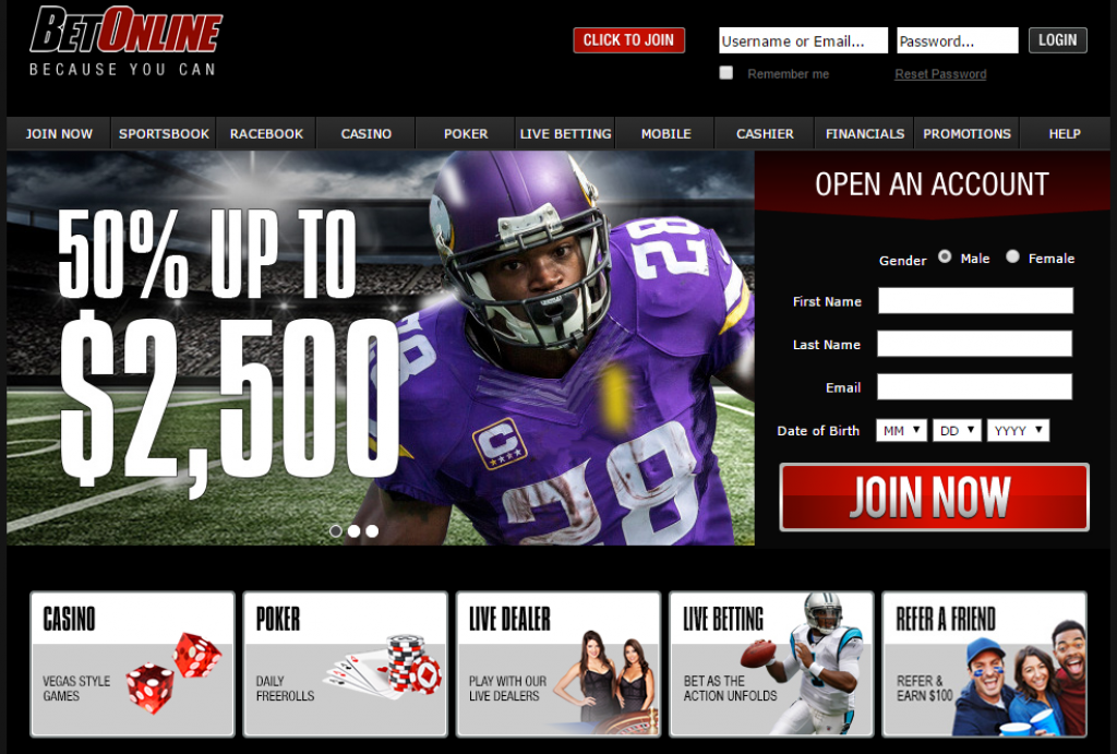 Betonline Review of the online sportsbook