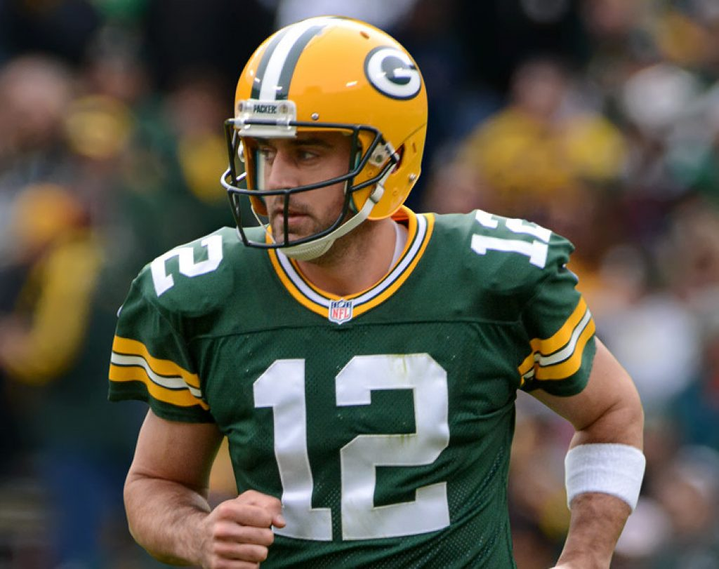 Aaron Rodgers is our Number 3 highest paid Quaterback
