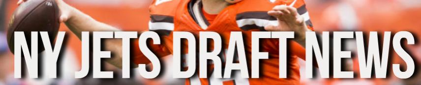 Josh McCown NY Jets Draft News