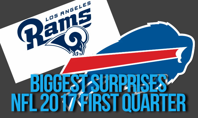 NFL 2017 First Quarter Surprises