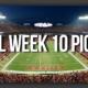 NFL week 10 Picks
