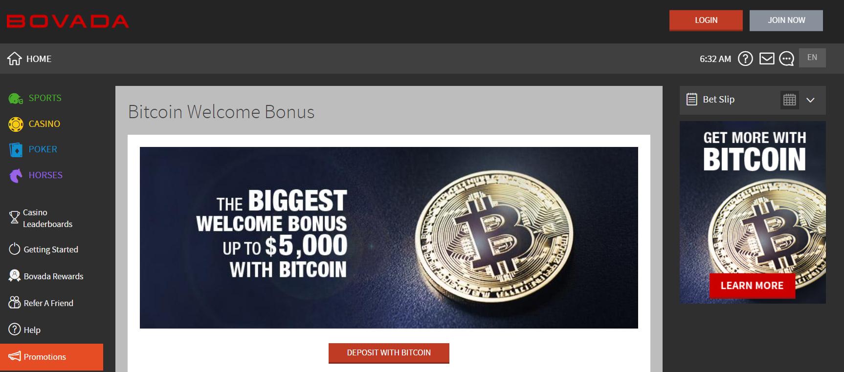 Bovada Bitcoin Payout