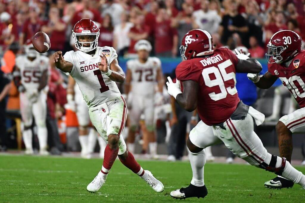 Kyler Murray's Odds of Being Selected 1st Overall Listed at -400 Less Than 1 Month Before Draft