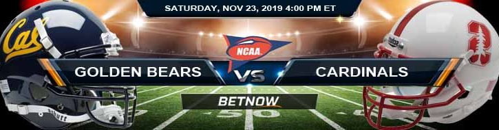 California Golden Bears vs Stanford Cardinals 11-23-2019 Picks, Odds and Previews