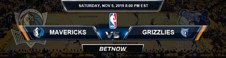 Dallas Mavericks vs Memphis Grizzlies 11-09-2019 Odds Picks and Previews
