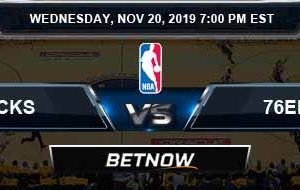 New York Knicks vs Philadelphia 76ers 11-20-2019 Spread Odds and Picks
