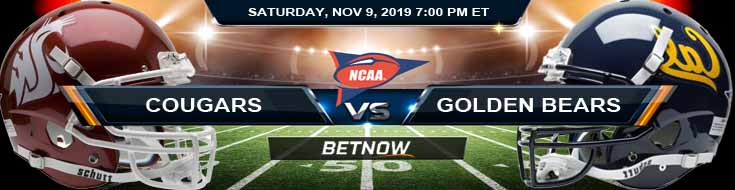 Washington State Cougars vs California Golden Bears 11-09-2019 Odds Predictions and Game Analysis