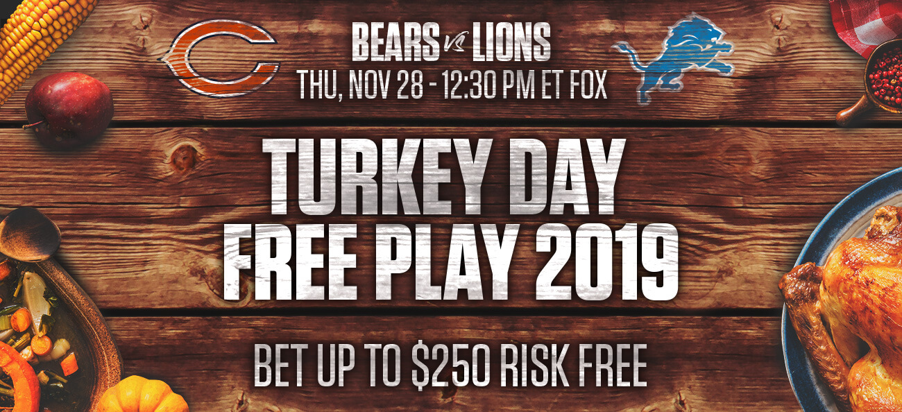 NFL Risk Free Bet up to $250 for Turkey Day