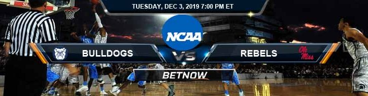 Butler Bulldogs vs Mississippi Rebels 12-03-2019 Odds Picks and Spread