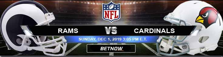 Los Angeles Rams vs Arizona Cardinals 12-01-2019 Predictions Preview and Spread