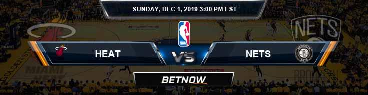 Miami Heat vs Brooklyn Nets 12-01-2019 Spread Picks and Game Analysis