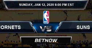 Charlotte Hornets vs Phoenix Suns 01-12-2020 Odds Picks and Previews