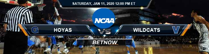 Georgetown University Hoyas vs Villanova Wildcats 01-11-2020 Picks Spread and Odds