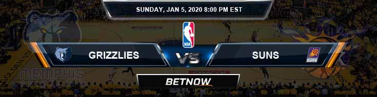 Memphis Grizzlies vs Phoenix Suns 1-5-2020 Spread Picks and Prediction