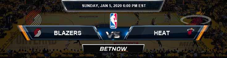 Portland Trail Blazers vs Miami Heat 1-5-2020 Odds Picks and Previews