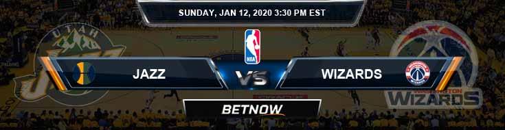 Utah Jazz vs Washington Wizards 1-12-2020 Spread Picks and Prediction